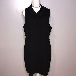 NWOT Plus Cowel Neck Shift Dress